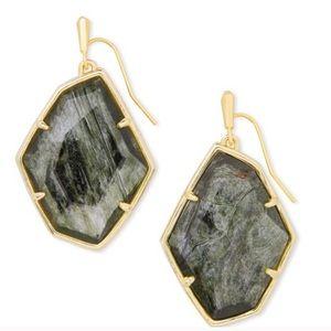 Kendra Scott Dax Gold/Sage Mica Green EarringsNWT